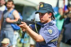 26ème anniversaire des forces armées croates Images libres de droits