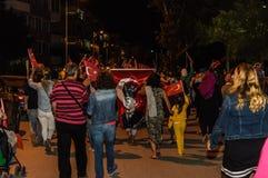 30ème August Turkish Victory Day Parade la nuit Photos libres de droits