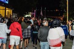 30ème August Turkish Victory Day Parade la nuit Photographie stock libre de droits