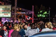 30ème August Turkish Victory Day Parade la nuit Images stock
