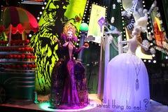 5ème avenue de Saks, New York pendant la saison des vacances Photographie stock libre de droits