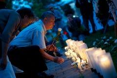 24ème cérémonie de commémoration d'année de massacre de Place Tiananmen Photos libres de droits