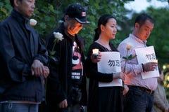 24ème cérémonie de commémoration d'année de massacre de Place Tiananmen Photo stock