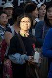 24ème cérémonie de commémoration d'année de massacre de Place Tiananmen Photo libre de droits