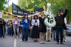 24ème cérémonie de commémoration d'année de massacre de Place Tiananmen Photographie stock libre de droits