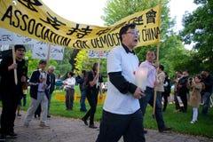 24ème cérémonie de commémoration d'année de massacre de Place Tiananmen Images libres de droits