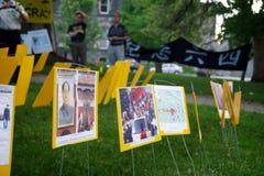 24ème cérémonie de commémoration d'année de massacre de Place Tiananmen Image libre de droits