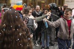 2ème carnaval du ` s de storico de centro à Naples 2017 Photographie stock libre de droits