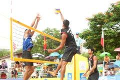 27ème championnat asiatique du sud-est de volleyball de plage. Images libres de droits
