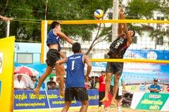 27ème Championnat asiatique du sud-est de volleyball de plage. Photo libre de droits