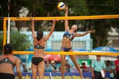 27ème championnat asiatique du sud-est de volleyball de plage. Photographie stock libre de droits