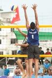 27ème championnat asiatique du sud-est de volleyball de plage. Photos stock