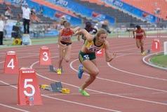 8ème Championnats de la jeunesse du monde d'IAAF Images stock