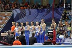 5ème Championnats européens en gymnastique artistique Image stock
