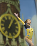 5ème Championnats européens en gymnastique artistique Photos libres de droits