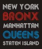 5ème conception de typographie d'avenue illustration stock
