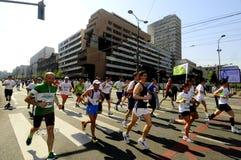 26ème course de marathon internationale de Belgrade Images libres de droits
