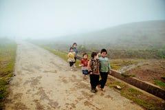24ème de décembre 2012, village de Sapa, Vietnam Photographie stock