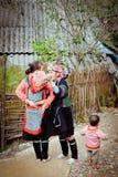 24ème de décembre 2012, village de Sapa, Vietnam Photographie stock libre de droits
