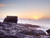 7ème de février 2017, île de Skye, Ecosse Atelier photographique, aménageant des leçons en parc de photographie Images stock
