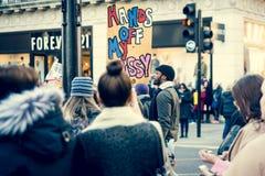 21ème de janvier 2017, marche des femmes Photo libre de droits