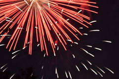 4ème de l'affichage de feux d'artifice de juillet Photo stock