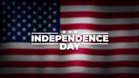 4ème de l'animation sans couture de Jour de la Déclaration d'Indépendance de juillet Jour de v?t?rans Typographie de vacances des illustration libre de droits