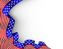 4ème de la carte de drapeau de juillet illustration de vecteur