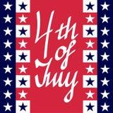 4ème de la carte de juillet Photographie stock libre de droits