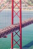 25ème de la passerelle d'avril à Lisbonne Panorama Images libres de droits