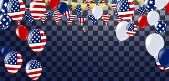 4ème des décorations américaines de Jour de la Déclaration d'Indépendance de juillet sur le backgr bleu illustration libre de droits