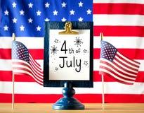 4ème des décorations de juillet Photos stock