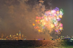 4ème des feux d'artifice de juillet à New York Photos libres de droits