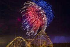 4ème des feux d'artifice de juillet Photos stock
