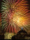 4ème des feux d'artifice de juillet Photo stock