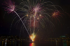 4ème des feux d'artifice de juillet de la péniche Portland Orégon 2013 Photo stock