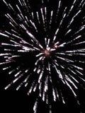 4ème des feux d'artifice de juillet s'allumant vers le haut du ciel Image stock