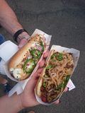 4ème du hot dog de juillet Photo stock