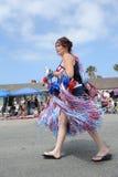 4ème du Huntington Beach CA Etats-Unis de défilé de juillet Images libres de droits