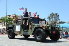 4ème du Huntington Beach CA Etats-Unis de défilé de juillet Photos libres de droits