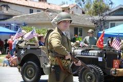 4ème du Huntington Beach CA Etats-Unis de défilé de juillet Image libre de droits