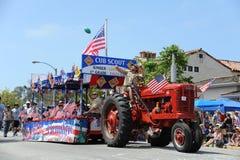 4ème du Huntington Beach CA Etats-Unis de défilé de juillet Photo stock