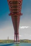 25ème du pont d'avril à Lisbonne Images stock