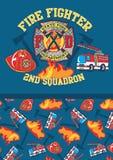 2ème escadron de pompier. illustration libre de droits