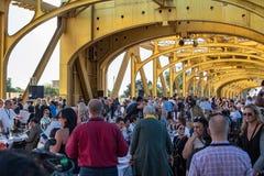 4ème ferme annuelle à bifurquer dîner 8 de pont de tour Images stock