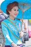 30ème festival de parapluie de Bosang d'anniversaire dans la province de Chiangmai de la Thaïlande Images stock