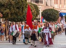 21ème festival international à Plovdiv, Bulgarie Image stock