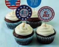 4ème gâteau juillet Image libre de droits