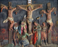 12ème Gares de la croix Photos libres de droits