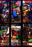 7ème Gares de la croix, automnes de Jésus la deuxième fois Photos stock